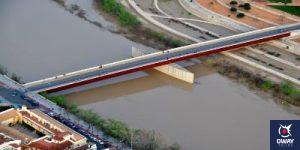 puente de Miraflores desde las alturas en Córdoba