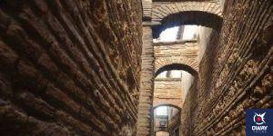 Callejón con arcos de la casa de las cabezas de Córdoba