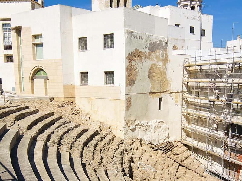 Teatro romano de Cadiz. Andalucia. España.
