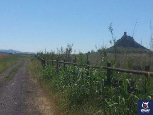 Imagen de un camino señalizado para una ruta