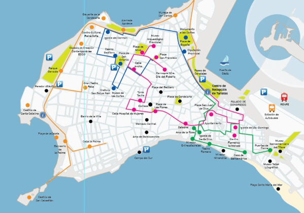 Tourist Map of Cadiz