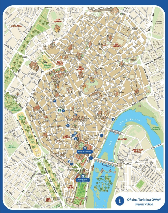 Cordoba toursit map