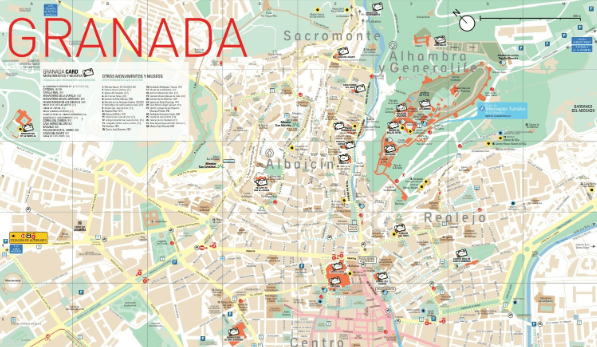 Tourist Map of Granada