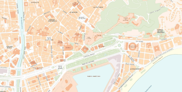 Tourist Map of Malaga