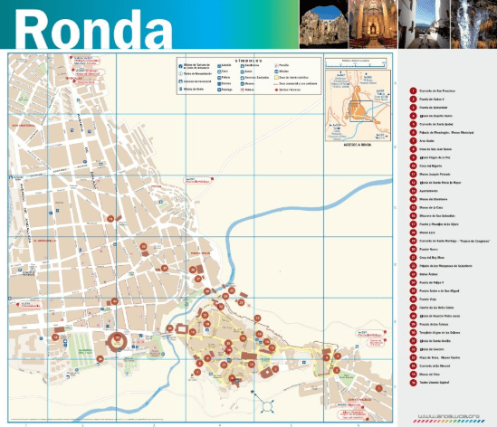 Touristic Map of Ronda