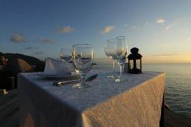 Cenas románticas en la playa