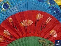 abanicos pintados a mano cadiz
