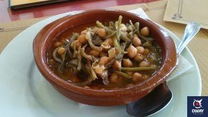 plato de potaje de tagarninas