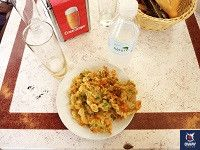 plato de tortillita de calamares