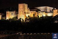 vistas de la alhambra de noche