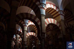 Les arches de la mosquée de Cordoue