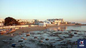 Sunset at Caleta beach