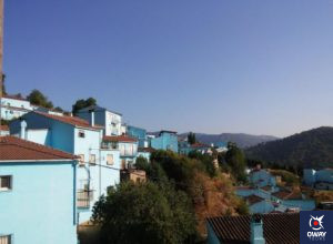 Blue houses in Malaga