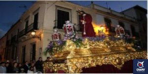 Captive Christ in the procession through the streets of Ronda Ronda