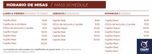 Horarios de las Misas