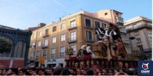 Descendimiento por una calle en Málaga
