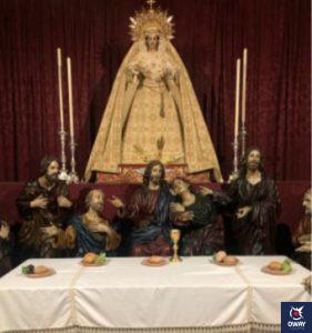 Sagrada Cena en su altar en Granada