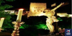 Cristo de los Gitanos con la Alhambra al fondo Granada