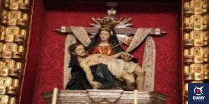 María de la Alhambra en su altar Granada