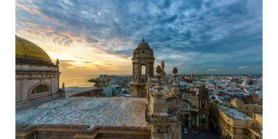 Vistas desde las cubierta de la Catedral de Cádiz