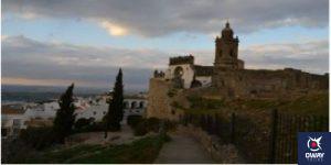 Bell tower of a church in Medina Sidonia in Cadiz