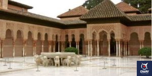 Patio of the Lions of the Alhambra in Granada