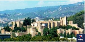 Panoramic view of the Alcazar of Malaga