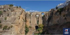 views of the gorge and the new bridge of Ronda