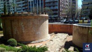 Mausoleos romanos en el Paseo de la Victoria