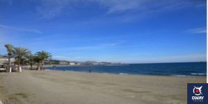 Clear day on the beach in Malaga