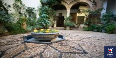 central courtyard of the Andalusian house in Cordoba