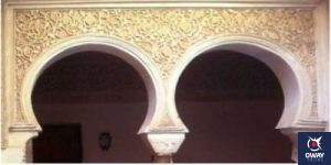 horseshoe arches like those of the Andalusi house in Cordoba
