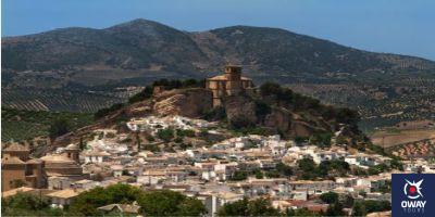 Panoramic view of the village of Montefrío de Granda