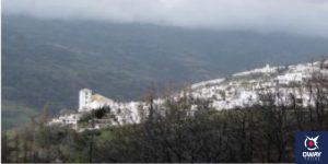 Cloudy day in the village of Ubión in Granada