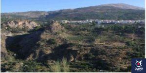 Distant views of the village of Lanjarón in Granada