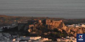 Views of the castle of Salobreña in Granada