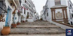 Una de las calles de Frigiliana en Málaga