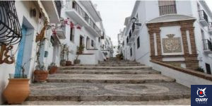 One of the streets of Frigiliana in Malaga