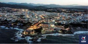 Vista aérea del pueblo de Nerja Málaga