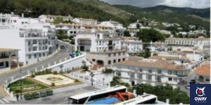 The village of Mijas in Malaga