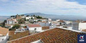 Vista aérea del pueblo de Comares en Málaga