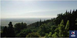 Vista de Sierra Morena, entorno del monasterio de Córdoba