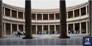 Circular courtyard of the Palace of Charles V in Granada