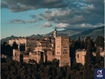 Panoramic view of the Alhambra in Granada