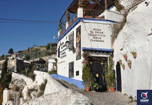 Casa típica del barrio del Sacromonte, Granada