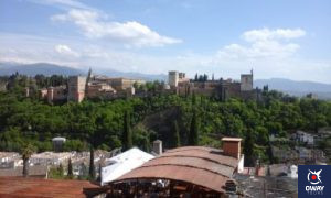 view of the Alhambra from the Viewpoint of San Nicolas