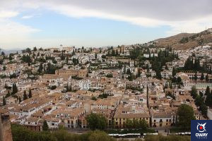 Vista panorámica del barrio del Albaicín, Granada