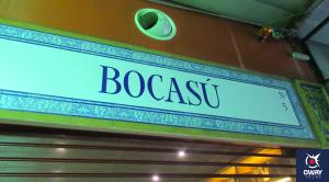 Cartel de la PastelerÍa Bocasú