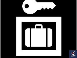 Logo en el que aparecen una llave y abajo una maleta metida en un recuadro.