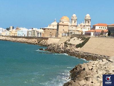 Vistas del paseo campo del sur en Cádiz